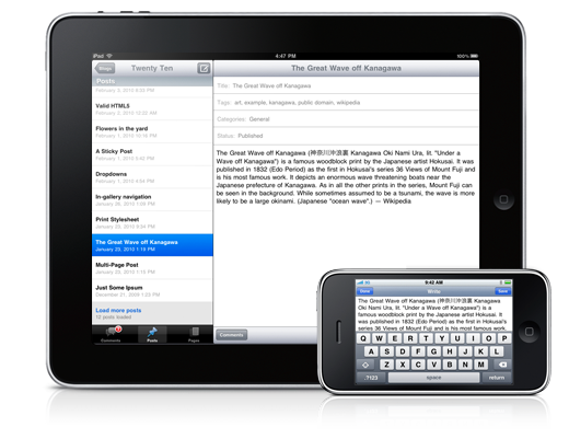 WordPress Updates iPhone / iPad App, Optimized For Retina Display