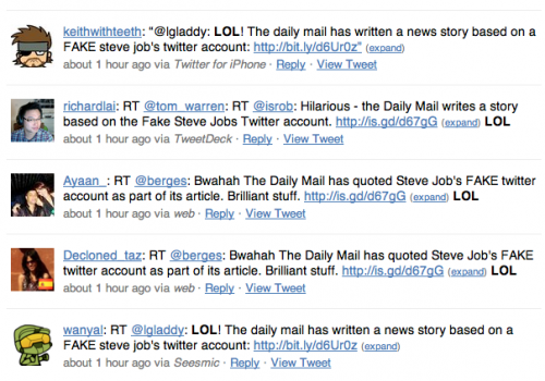 Picture 942 500x350 DailyFail: Newspaper quotes (Fake) Steve Jobs tweet in story about iPhone 4 recall