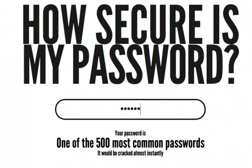 Picture 970 500x333 New tool How Secure Is My Password tells you..well, you know.