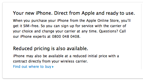 Official: iPhone 4 in the UK is available unlocked.