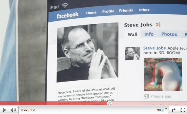 There is porn on Steve Jobs's iPad AND Facebook profile!