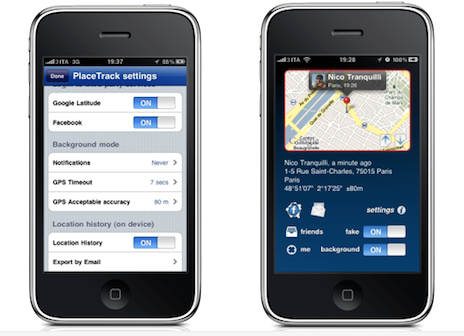 PlaceTrack: Enabling Background Google Latitude Updates For iPhone