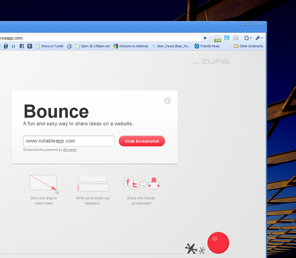 Bounce turns any website into a collaboration white board.