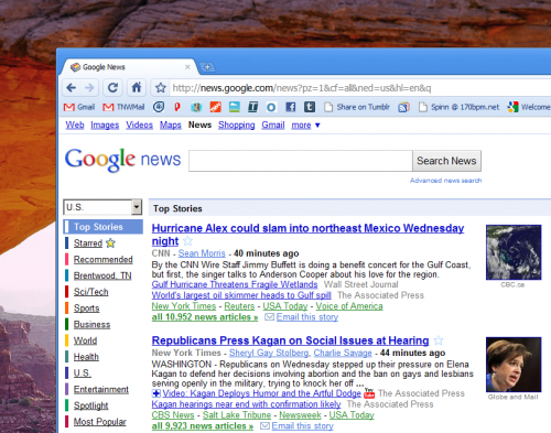 Screenshot 6 30 2010 4 58 32 PM 500x393 Google News update could add credit to the social network rumors.