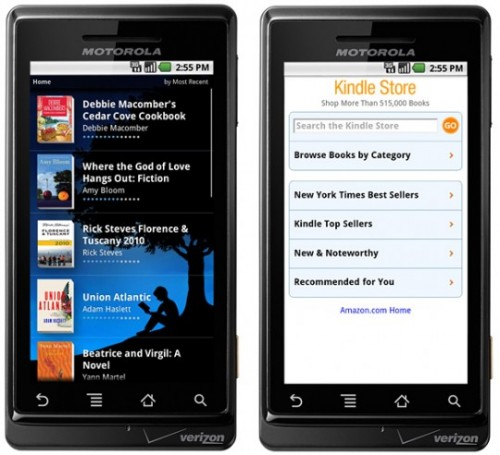 amazon kindle android app 540x492 500x455 Kindle For Android Now Available