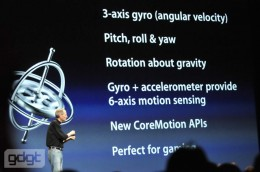 apple wwdc10 532 260x172 iPhone 4 Has A Gyroscope   Gaming On The iPhone Just Got Super Three Dimensional