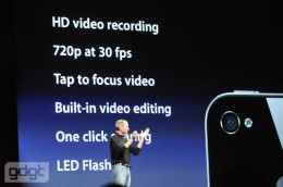 apple wwdc10 569 260x172 5MP Camera and HD Video comes to the iPhone