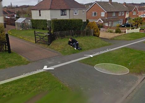 Kiss and tell.  Couple's first kiss caught on Google Street View.
