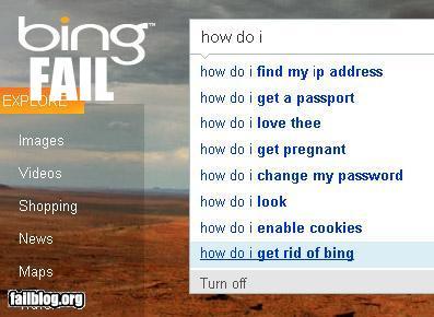 Bing fail!