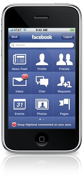 facebook iphone 30 Facebook for iPhone Updated for iOS4. Includes fast app switching.