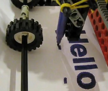 Truly Amazing – The Lego Felt Tip Printer