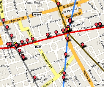 London Public Transport Map.Watch London Tube Trains Mapped In Real Time
