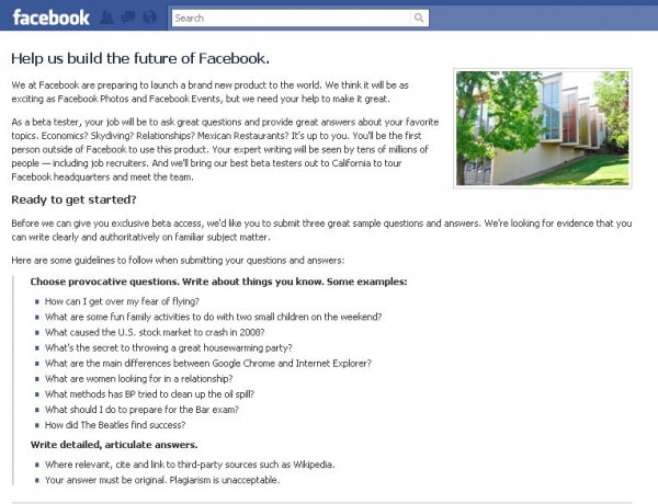questions 600x460 Facebook Inviting Beta Testers For New Questions Feature
