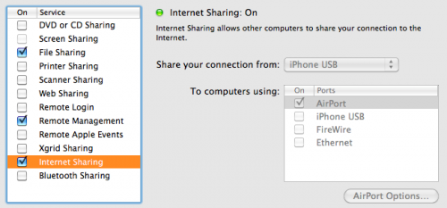 usb sharing 500x233 Want to use FaceTime without WiFi?  Heres how.