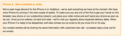 vodafone 500x149 Rumour: Only 16,000 iPhone 4 Handsets Delivered To The UK