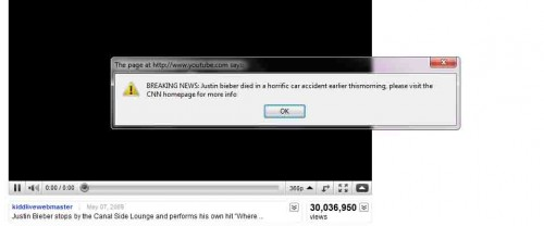 1278252382616 e1278253296870 YouTube Hacked, Justin Bieber Videos Targeted.