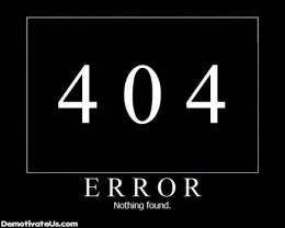404 error nothing found demotivational poster 260x208 The rogue developers apps have been removed from the iTunes Store.