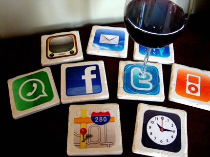 iPhone Apps Coasters In Italian Stone