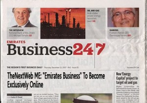 Biz 247 300x211 Emirates Business 24/7 To Become Exclusively Online 24/7