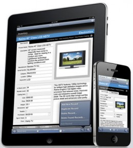 Filemaker 260x290 Mobile database management gets easy and expensive with FileMaker Go.