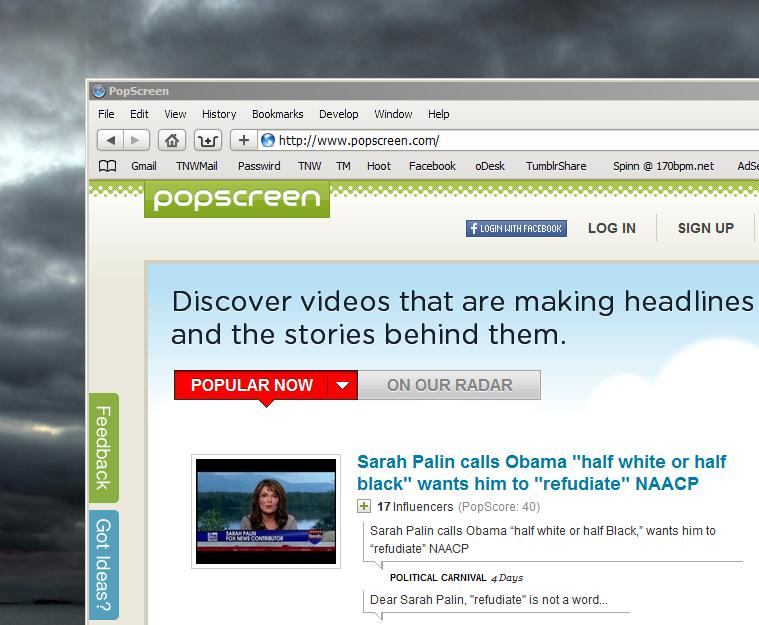 Popscreen helps you discover cool videos, then predicts how popular they will become.