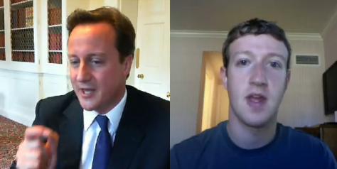 Prime Minister David Cameron's Video Chat with Mark Zuckerberg [Video]