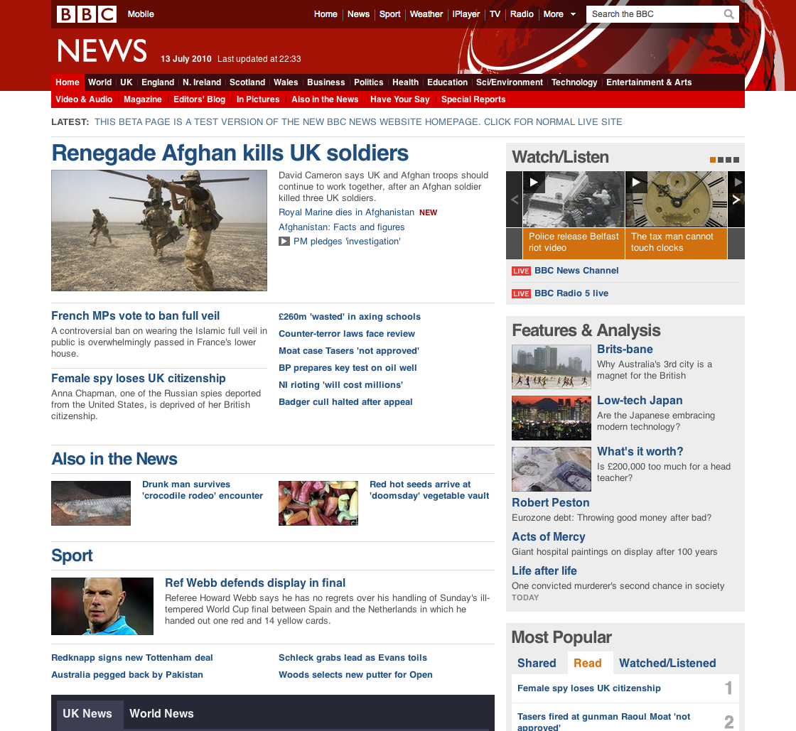 New BBC Website Goes Live Tomorrow But You Can See It Now