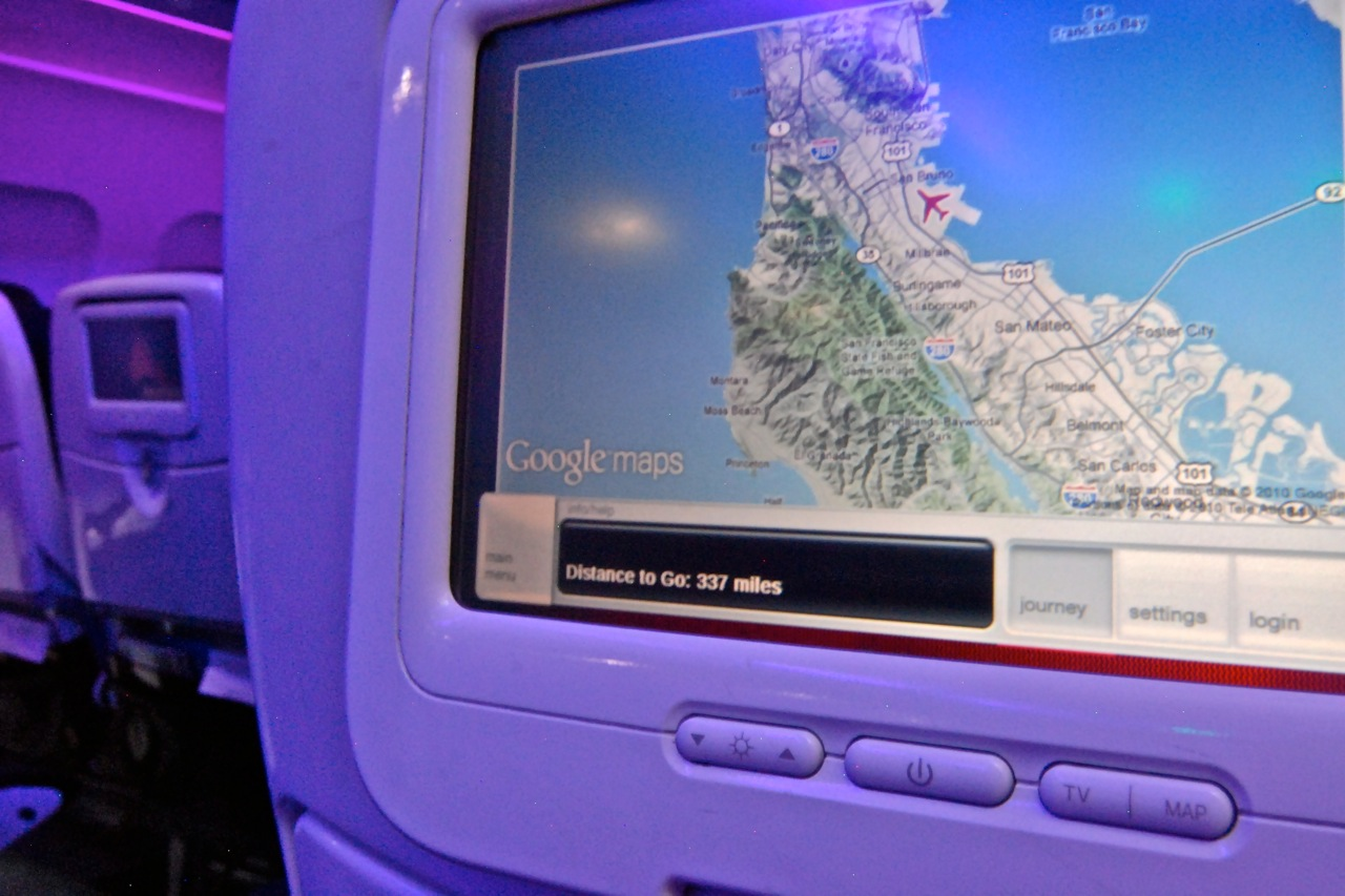 Refreshed Google Maps Interface Rolls Out Across Virgin America Fleet
