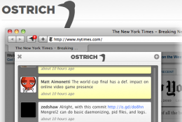 Screenshot 7 14 2010 11 40 32 AM 260x174 Safaris first Twitter app, Ostrich, puts slick and simple into the forefront.
