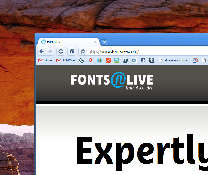 FontsLive brings beautiful text to your site, no matter the browser.