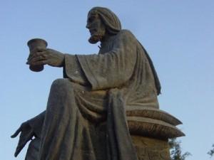 The Statue of the Medieval Libertine Arab Poet Abu Nuwas