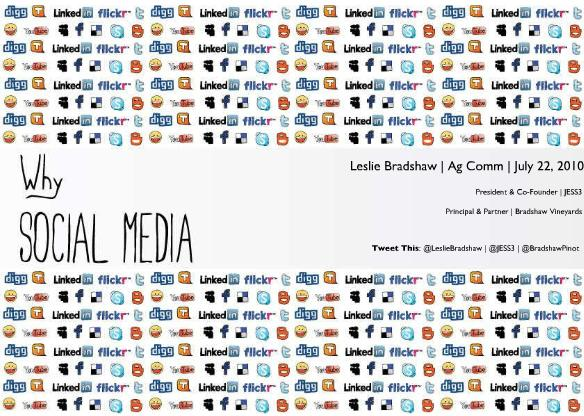 Why Social Media? A Slideshare presentation.