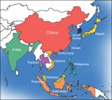 asia map standard 160x143 Study shows 37% of tweets originate from Asia. Is that right?
