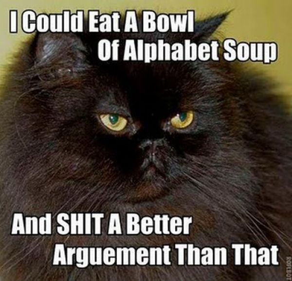 I could eat a bowl of alphabet soup…