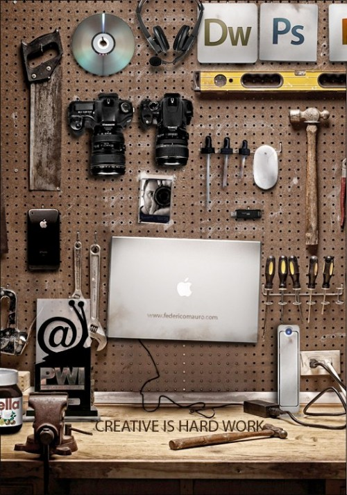 designersdesk 500x712 The Designers Desk shows that creative work is hard work!