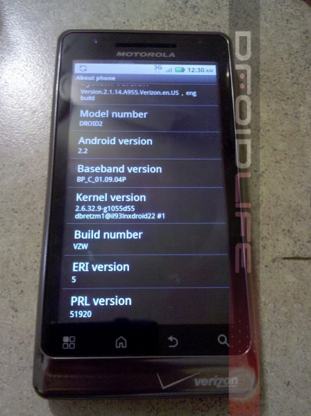 Confirmed: Droid 2 Will Launch With Android 2.2