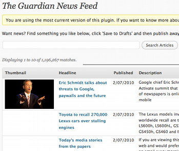 Guardian reblogging tool. Image via the Guardian
