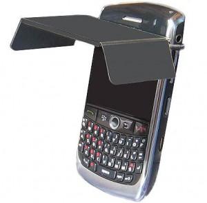 mobile visor blocks blackberry screen retains privacy