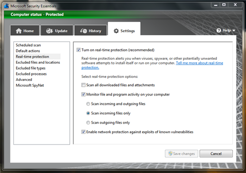 mse realtime Microsoft Security Essentials v2 Beta Released
