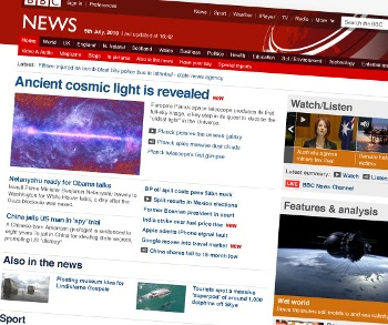 BBC News website gets a new look. Twitter and Facebook built in