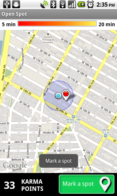 ny marking spot Google launches Android app to help you find empty parking spots