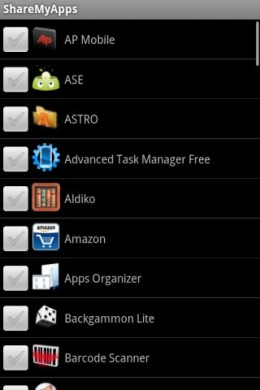 screen11 260x390 ShareMyApps gives you a handy tool to share Android applications with friends.