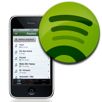 It's here! Spotify for iOS4 with background listening.