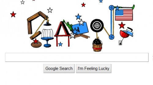 three 500x278 Pop Goes Google! Rube Goldberg Doodle Puts On A Fourth of July Display