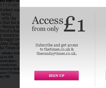 The Times Paywall Is Now Active. £1 Please!