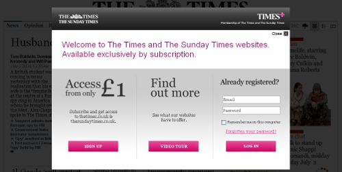 times paywall The Times Paywall Is Now Active. £1 Please!