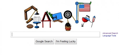 two 500x231 Pop Goes Google! Rube Goldberg Doodle Puts On A Fourth of July Display