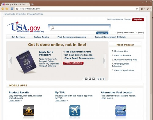 usa 500x393 USA.gov Gets A New Look, Includes Mobile App Gallery