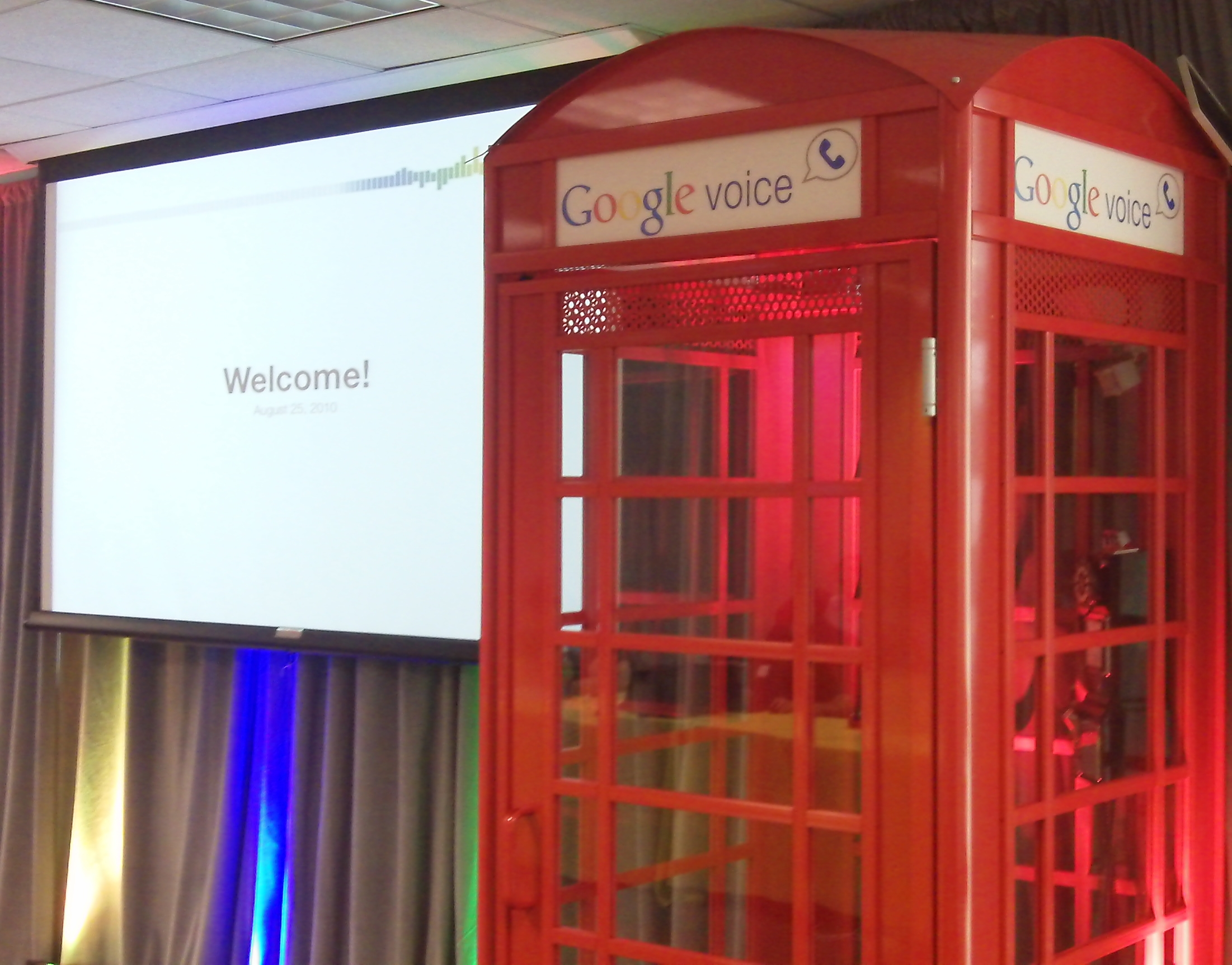 Video: The Google Voice Phone Booth