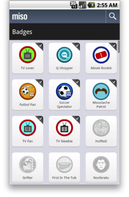 3. android badges2 260x396 Miso arrives on Android.  Get it here now!